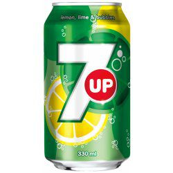 7up plechovka 0,33l