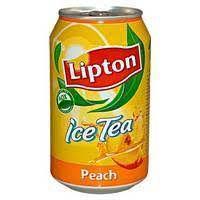 Lipton peach tea plechovka 0,33l
