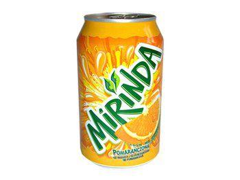 Mirinda orange plechovka 0,33l